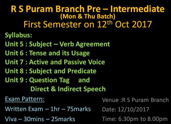 English Grammar Class in R S Puram